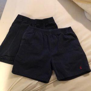 Navy Polo shorts